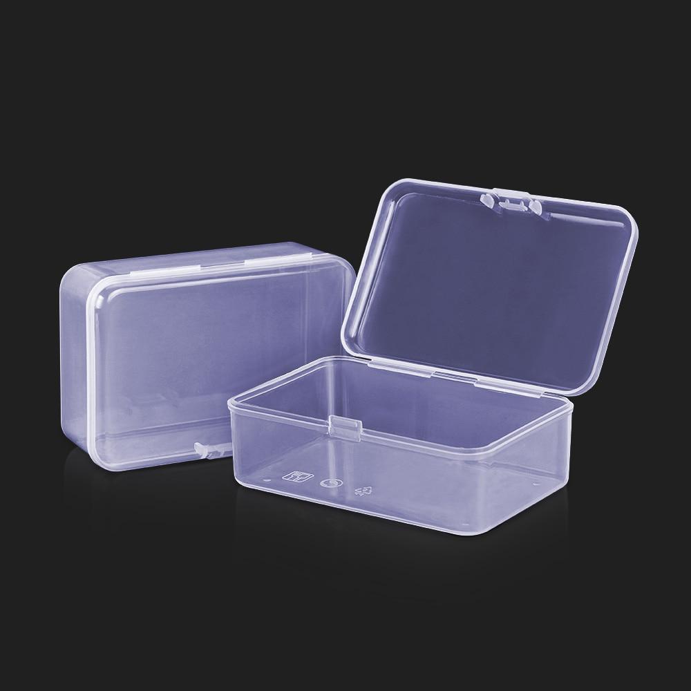 1PCS Microblading Transparent Tattoo Needles Storage Box Make Up Cotton Pad Box Cotton Swab Box Tattoo Accessory