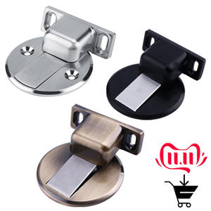 Stopper Catch Door-Holder Floor-Mount Wall Magnetic Gate-Resistor Safety 1pcs Zinc-Alloy