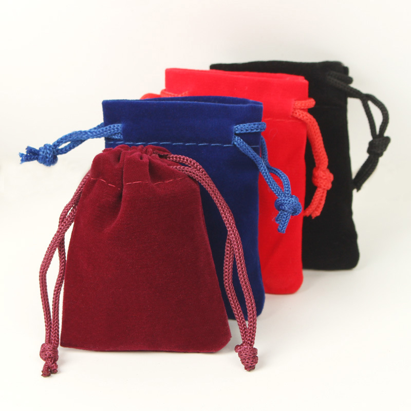 Velvet Bag Drawstring  Custom Velvet Jewelry Bag With Logo Printing Drawstring Bag Velvet 8*10CM
