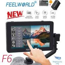 FEELWORLD F6 PLUS 5,5 дюймов ips 3D LUT сенсорный экран 4K HDMI монитор Full HD 1920x1080 DSLR камера полевой монитор для Canon Nikon