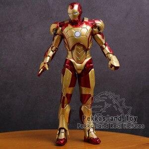 Image 5 - Iron Man Mark MK 42 Vàng Người Sắt Nhựa PVC Đồ Chơi