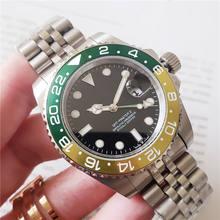 VFactory Klassische Top Echt GMT Uhr Keramik Lünette Mens Fashion Batmans Mechanische Automatische Uhr männer datum Uhren Armbanduhren