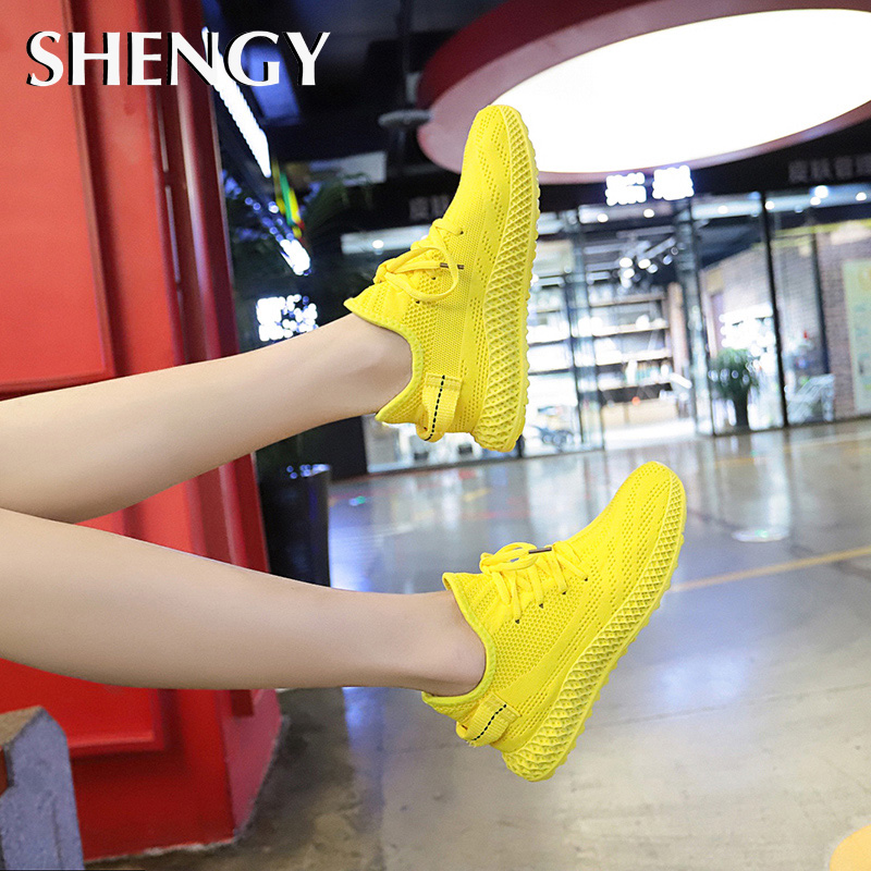 New Women Sneakers Mesh Casual Shoes Air-Cushion Flat Anti-Slip Women Sneakers Outdoor Jogging Trainer Female Vulcanized Shoes