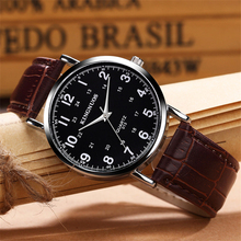 лучшая цена KINGNUOS Classic Brand Mens Watches Fashion Leather Bracelet Quartz Watch Business Man Watch Style Men Dress WristWatch Clock