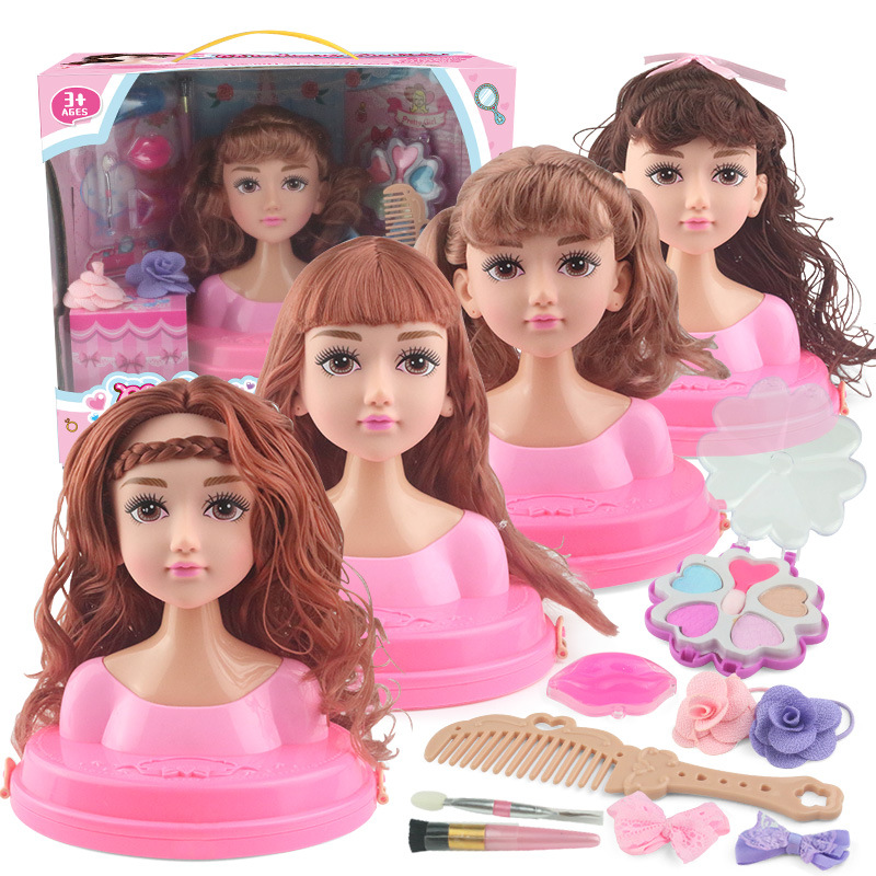 Kids Dolls Make Up Comb Hair Toy Doll Set Pretend Play Princess Set Dolls Makeup Kit Toys For Girls Dressing Cosmetic Girl Gifts