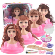 Kids dolls Make Up Comb Hair Toy Doll Set Pretend Play Princess set dolls Makeup Kit Toys for Girls Dressing Cosmetic Girl Gifts(China)