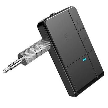 J20 Bluetooth 5,0 Receptor 3,5 MM Jack AUX MP3 Música Coche Kit Mic Llamada Con Manos Libres Adaptador Inalámbrico Altavoz Auricular O Transmisión