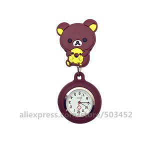 Image 3 - 100 pcs/lot 110514 Animal infirmière montre docteur Wathes belle vente en gros montres de poche dames femmes mode montre médicale
