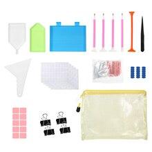 Tools-Kits with Multi-Size Diamond Pen-Tray Label Sticker Tweezers Diamond-Painting-Accessories