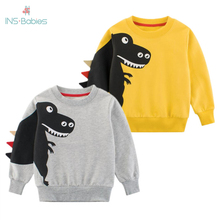 Boys 2020 Top Long Sleeve Clothes Children Boy Girl Clothing Print Cartoon Child Dinosaur Fashion Sweatshirt Spring And Autumn