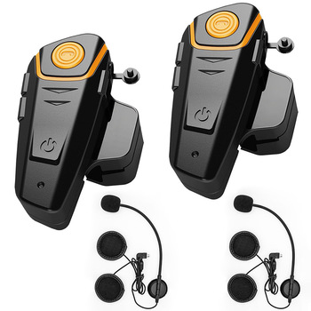 BT-S2 2Pcs Motorcycle Intercom Bluetooth HelmetHeadset Speaker Radio Motorbike Communication SystemHandsfree Headphone