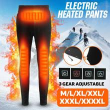 Calças aquecidas elétricas calças masculinas calças usb camada elástica base de aquecimento quente