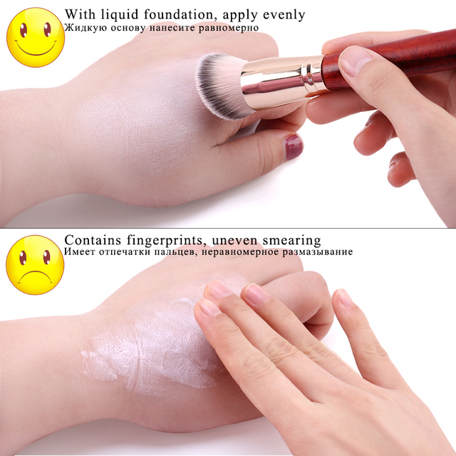 1PCS Oblique Head Foundation brush Powder Concealer Liquid Foundation Face Makeup Brushes Tools Professional Beauty Cosmetics 4