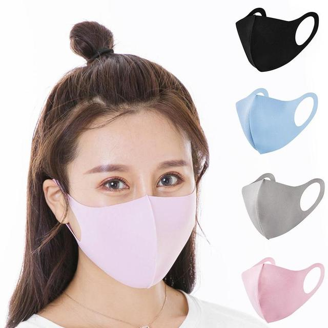 1pc Reusable Ice cotton Masks Mouth Mask Cotton Blend Anti Dust And Nose Protection Face Mouth Mask Fashion For Man Woman 5