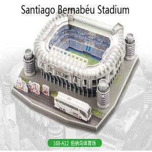 Image 4 - Puzzle 3D europejski klub piłki nożnej Liverpool miejsca DIY Model Puzzle zabawki papier budynek stadion piłka nożna montaż prezenty z motywem gry