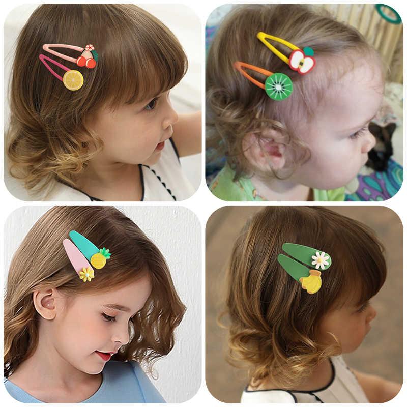 Flower Fruit Hair Clips Princess Headdress Kids Hairbands Rubber Bands Hairpins
