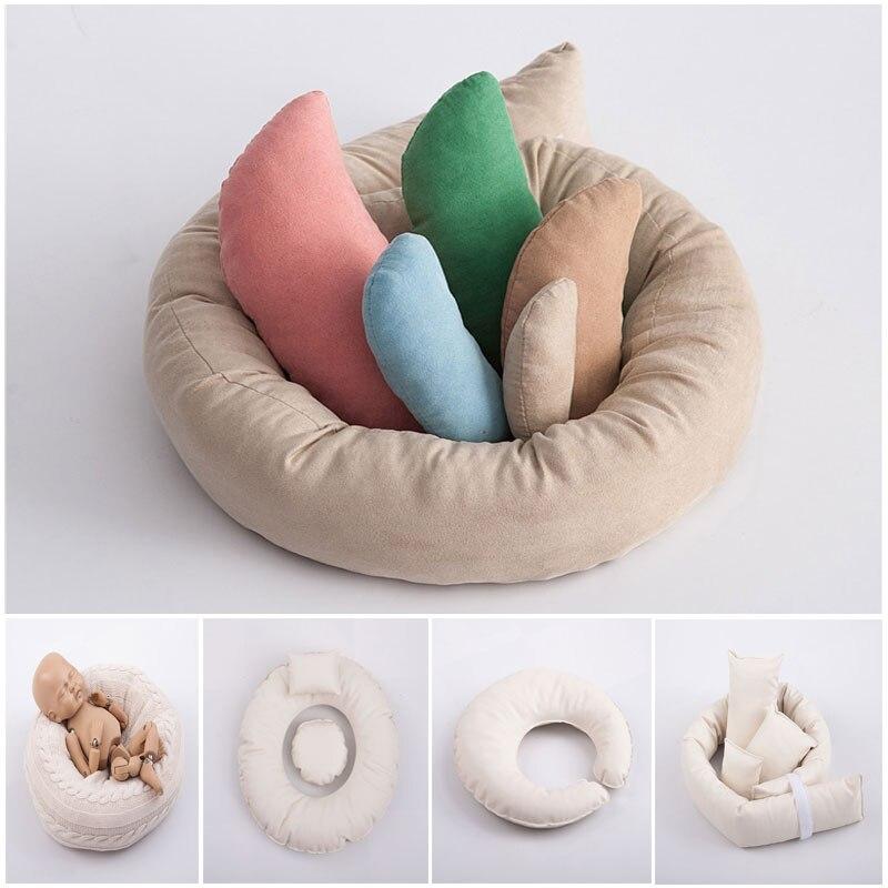 Реквизит для фотосъемки новорожденных круглое кольцо Подушка детский реквизит для фотосъемки фон корзина наполнитель фон для фотосъемки
