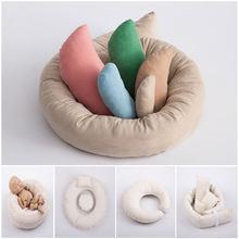 Fotografia recém-nascido adereços ciclo anel forma redonda travesseiro foto do bebê prop pano de fundo cesta filler fundo fotografia