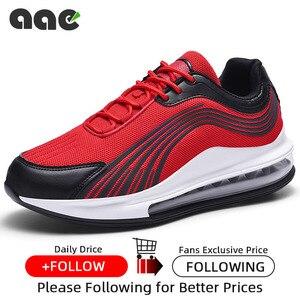 Image 5 - Tend baskets chaussures décontractées Mesh pour hommes, chaussures de course à coussin dair, de sport respirantes, à lacets
