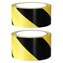 Fábrica 1 rolo macio pvc cuidado marca fitas preto amarelo perigo conspicuidade aviso aviso stickersc fitas