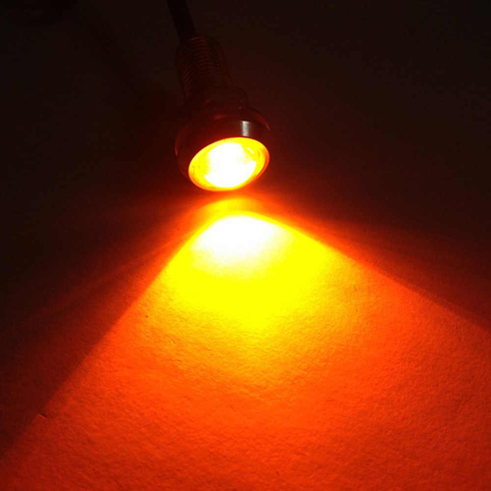 23mm kırmızı kartal göz ışığı 9w Dc 12v araba Led gündüz çalışan işık Drl yedekleme araba Motor park sinyal lambaları su geçirmez sis lambası