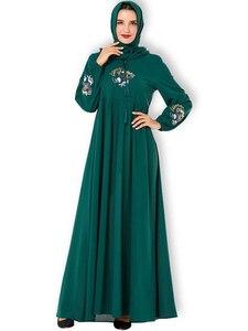 Image 5 - Повседневное женское Платье макси с вышивкой в исламском стиле, кафтан плюс, винтажные свободные молитвенные платья, одежда из Турции, халат, Новинка