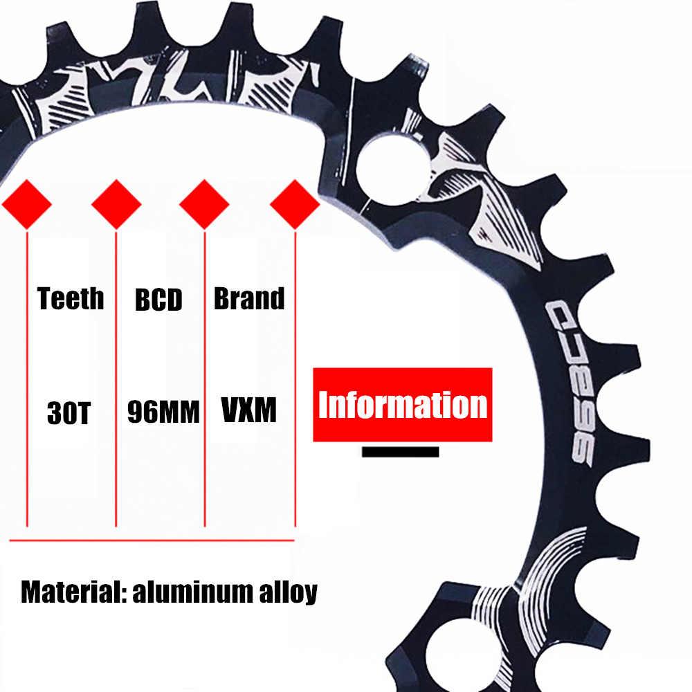 ضرس كرنك للدراجة طراز VXM 30T 96BCD مستديرة ضيقة وواسعة وفائقة الخفة من الألمونيوم دراجة سلسلة من ألواح كرنك الدراجات الدائرية