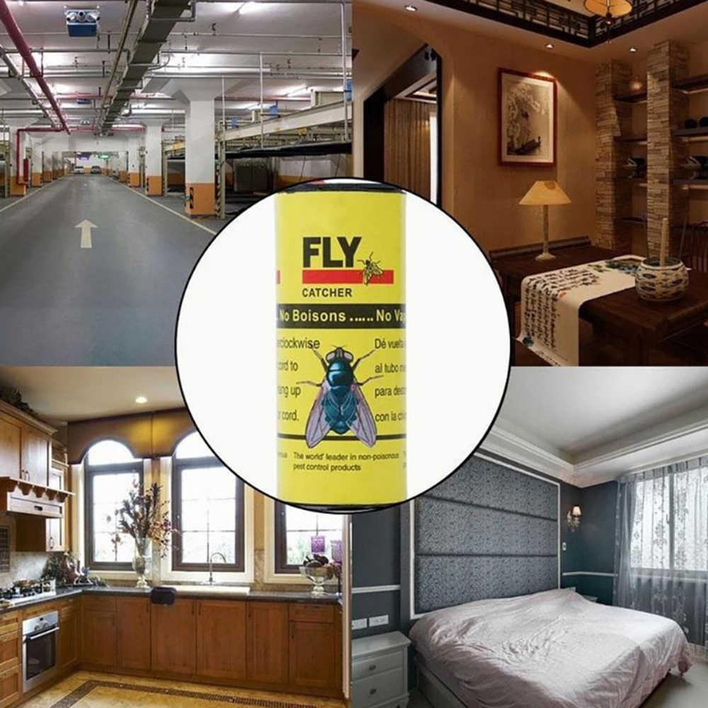 4 ม้วนSticky FlyกระดาษกำจัดแมลงวันแมลงกาวกระดาษCatcher TRAP 4 ใบSticky Flyสติกเกอร์บินแมลง