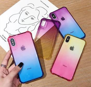 Protective case for iP 11 Pro XR XS Max 8 ultra thin crystal protective film shockproof soft case image