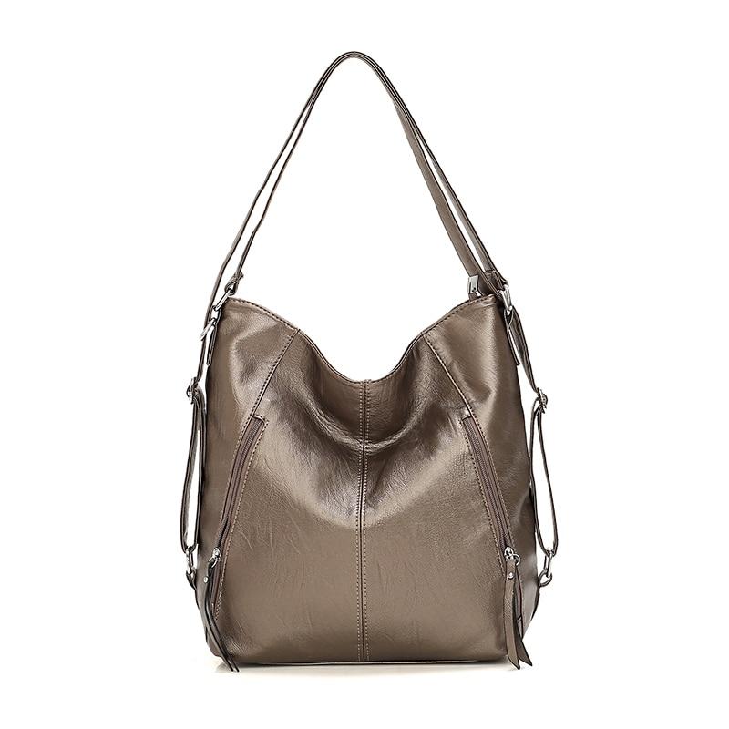 Fashion Women Pu Leather Shoulder Bag High Quality Ladies Handbags Large Capacity Tote Bags Casual Female Messenger Hobos Bags
