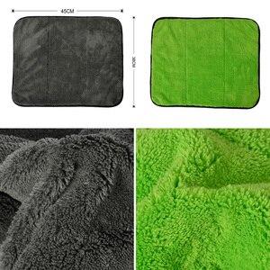 Image 4 - Super Thick Plush Microfiber Car Cleaning Cloths AUTOYOUTH Car Care Microfibre Wax Polishing Detailing Towels 45cmx38cm 3 Colors