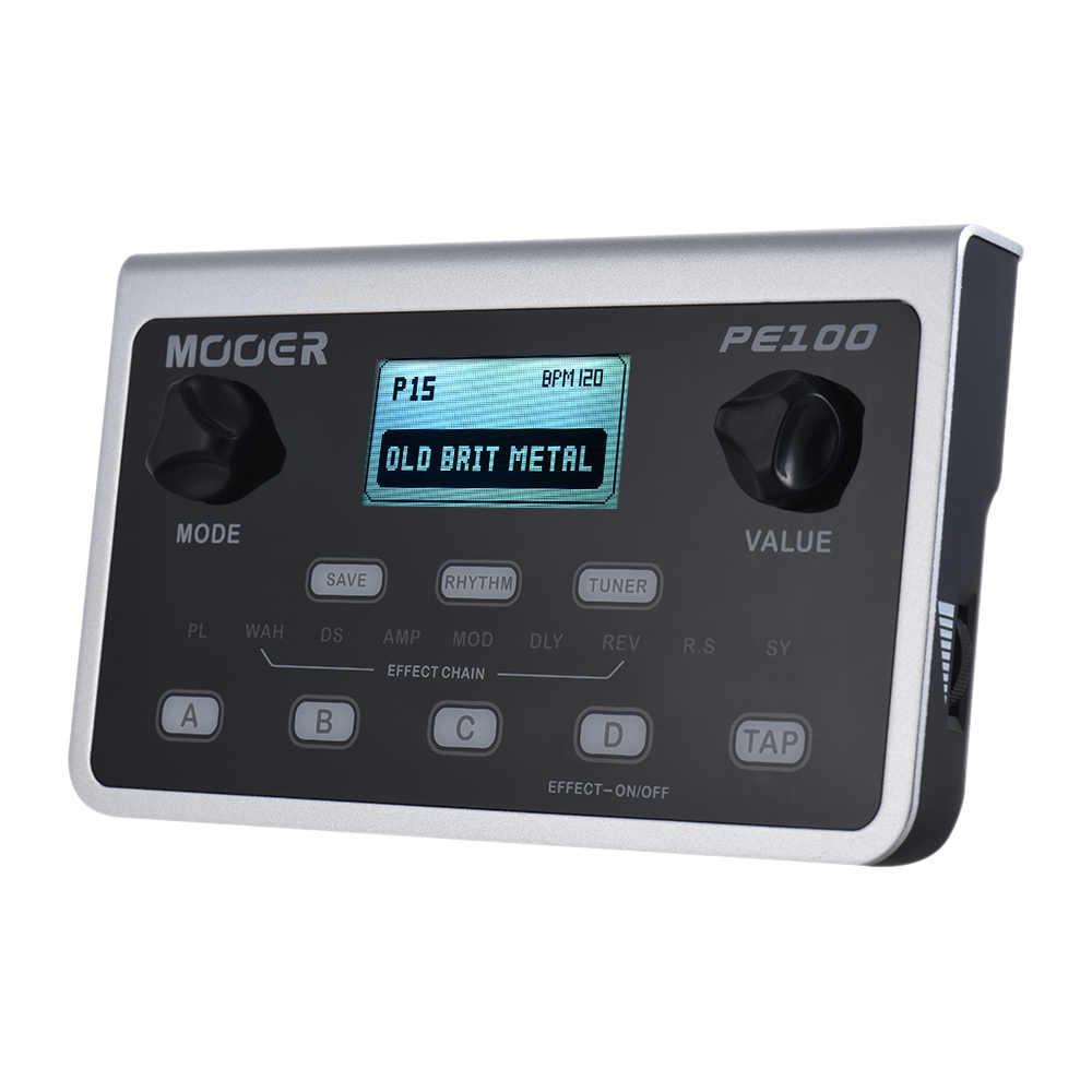 MOOER PE100 Multi-effekte Prozessor Gitarre Effekt Pedal 39 Effekte Gitarre Pedal 40 Trommel Muster 10 Metronome Tap Tempo