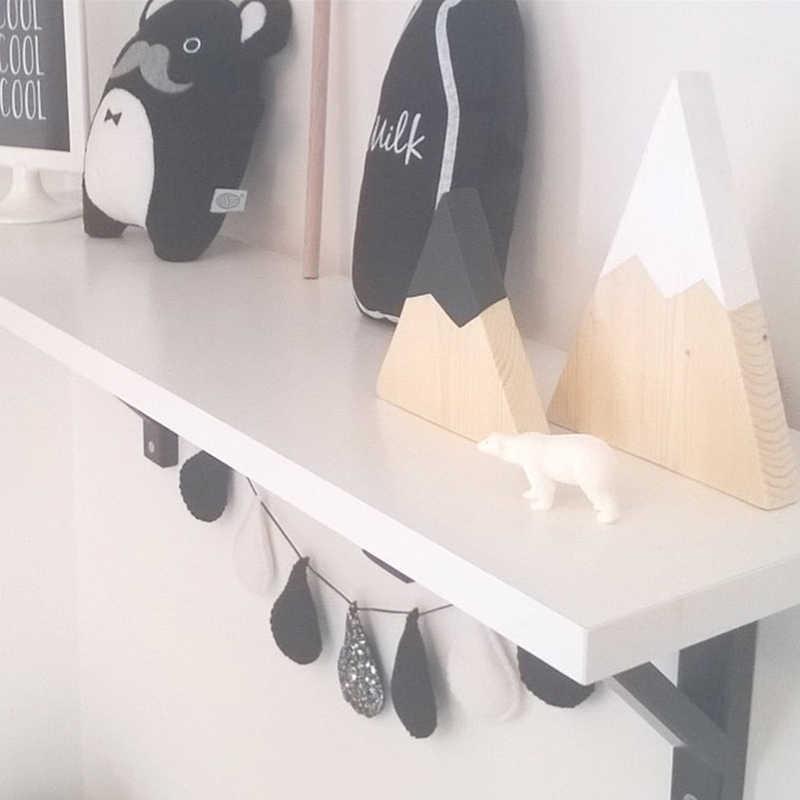 2 قطعة/المجموعة الشمال نمط ديكورات جدرانية الطفل الاطفال غرفة نوم شنقا جبل الثلج شكل الحلي زينة JPDZS1028