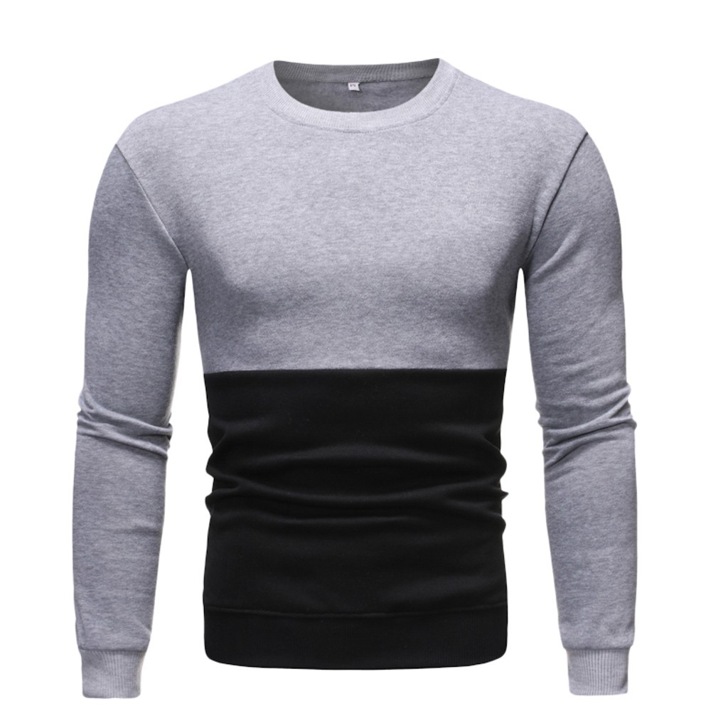Men 39 s T Shirt Long Sleeve Autumn And Winter Men New Fashion Autumn Winter Long Sleeve Sweatshirt Patchwork Tops Blouse in T Shirts from Men 39 s Clothing