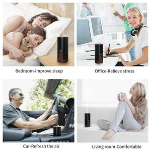 Image 5 - GX.Diffuser Ultrasonic Car Humidifier USB Essential Oil Diffuser Alloy Portable Mini Car Aroma Diffuser Mist Maker with LED Lamp