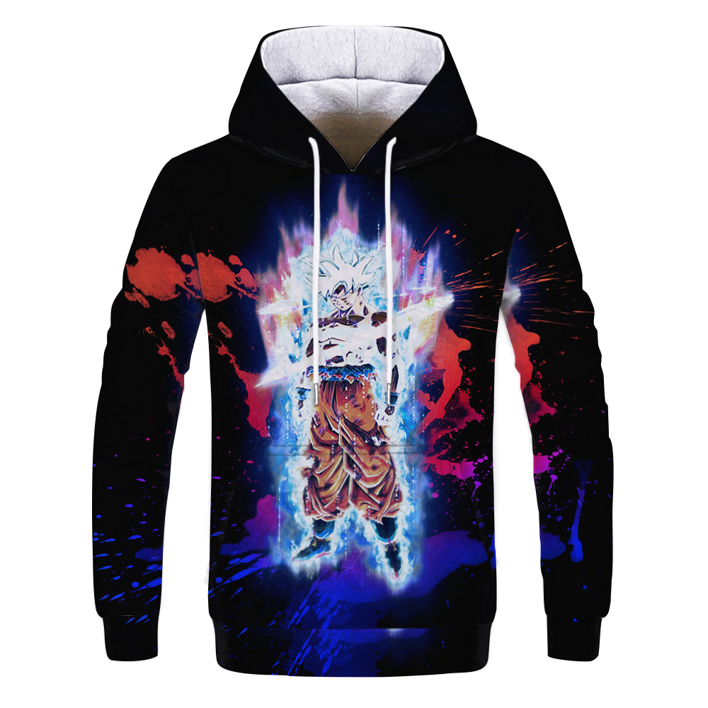 Leisure Dragon Ball Sun Goku Tokyo Anime Autumn Long Sleeve Hooded Clothes Hip Hop Painting Cartoon Hoodie and Sweatshirt 3D