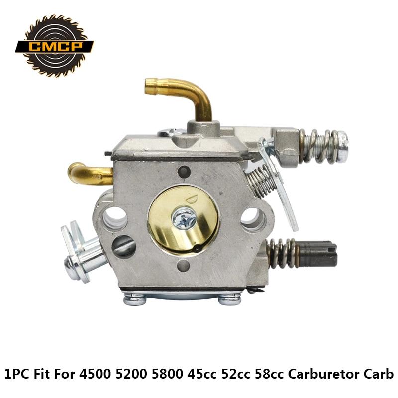 Chainsaw Carburetor Gasoline Chainsaw Spare Parts Fit KOMATSU 4500 5200 5800 45cc 52cc 58cc Gasoline Carburetor Carb