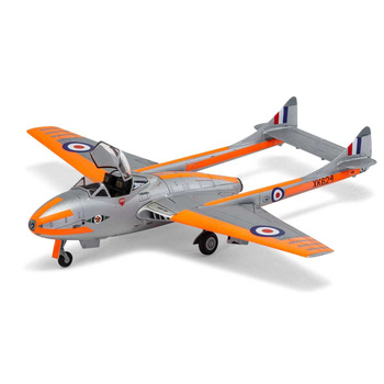 Trumpeter Airfix 1:48 Scale British De Havilland Vampire FB Mk9 Mk5  T11 J-28C Fighter Plane Airplane Plastic Assembly Model Kit trumpeter 1 48 scale us c 47a c 48c skytrain transport plane airplane aircraft toy plastic assembly model kit