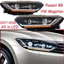 2017 ~ 2019 автомобильный бупмер головной свет для Magotan Passat B8 фара Cruiser автомобильные аксессуары все светодиодный противотуманный фонарь Passat Magotan B8 налобный фонарь
