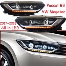 2017 〜 2019 車 bupmer ヘッドライト用 magotan パサート B8 ヘッドライトクルーザー車のアクセサリーすべての LED 曇パサート Magotan b8 ヘッドランプ