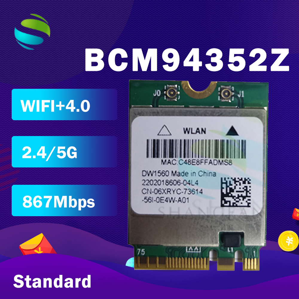 BCM94352Z BCM94352 DW1560 NGFF 867Mbps 802.11ac Bluetooth 4.0 Wlan Card(China)