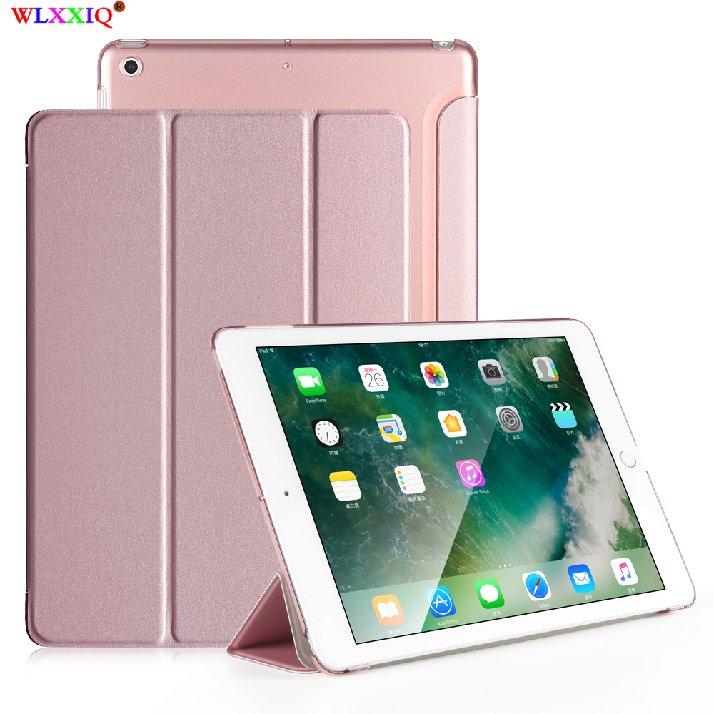Ultra-thin Magnetic Case for iPad 9.7 2017 2018 New Air 1 2 A1822/A1893 A1474 Smart PU Leather Funda Cover Auto Sleep/Wake image