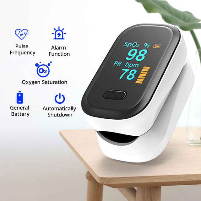 BOXYM Medical Fingertip Pulse Oximeter & LCD Wrist Blood Pressure Family Health Care Travel Packages 2