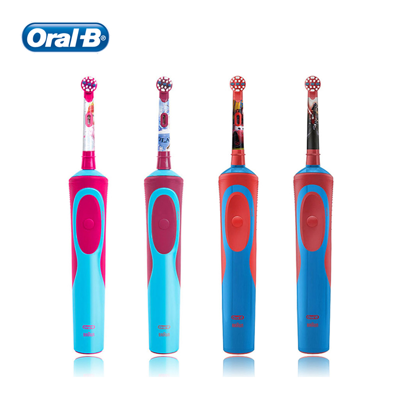 Oral B Kid's Electric Toothbrush 2D Rechargeable Inductive Waterproof Rotary Type Clean Teeth Whiter Soft Bristle Tooth Brush image