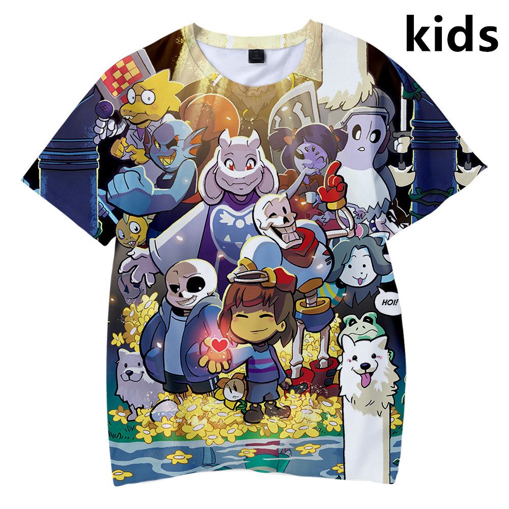 3 To 14 Years kids t shirt Undertale Sans 3D printed t-shirt boy/girls Funny Harajuku tshirt Children Clothes Tee cute tops