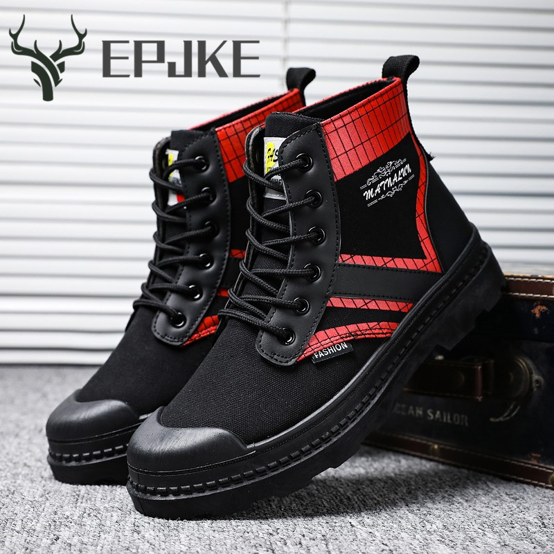 EPJKE Classic Sneakers Men High Quality Fashion Men Casual Shoes Comfortable Mesh Outdoor Walking Jogging Shoes Tenis Masculino