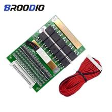 6 17S BMS 35A 50A 80A 120A 150A18650 LiFePo4 lityum pil ayarlanabilir dengeleyici 72V denge koruma levhası için elektrik motoru