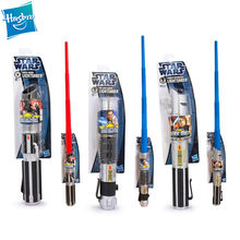 Hasbro star wars força despertar retrátil sabre de luz darth vader anakin obi-wan coleção sem luzes crianças laser espada brinquedos