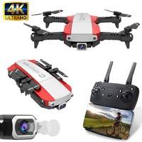 2019 Foldable FPV Drone with Camera 4K 16MP HD Real time WIFI Video Hovering RC Helicopter Quadrocopter Dual Camera 4K Drone RTF
