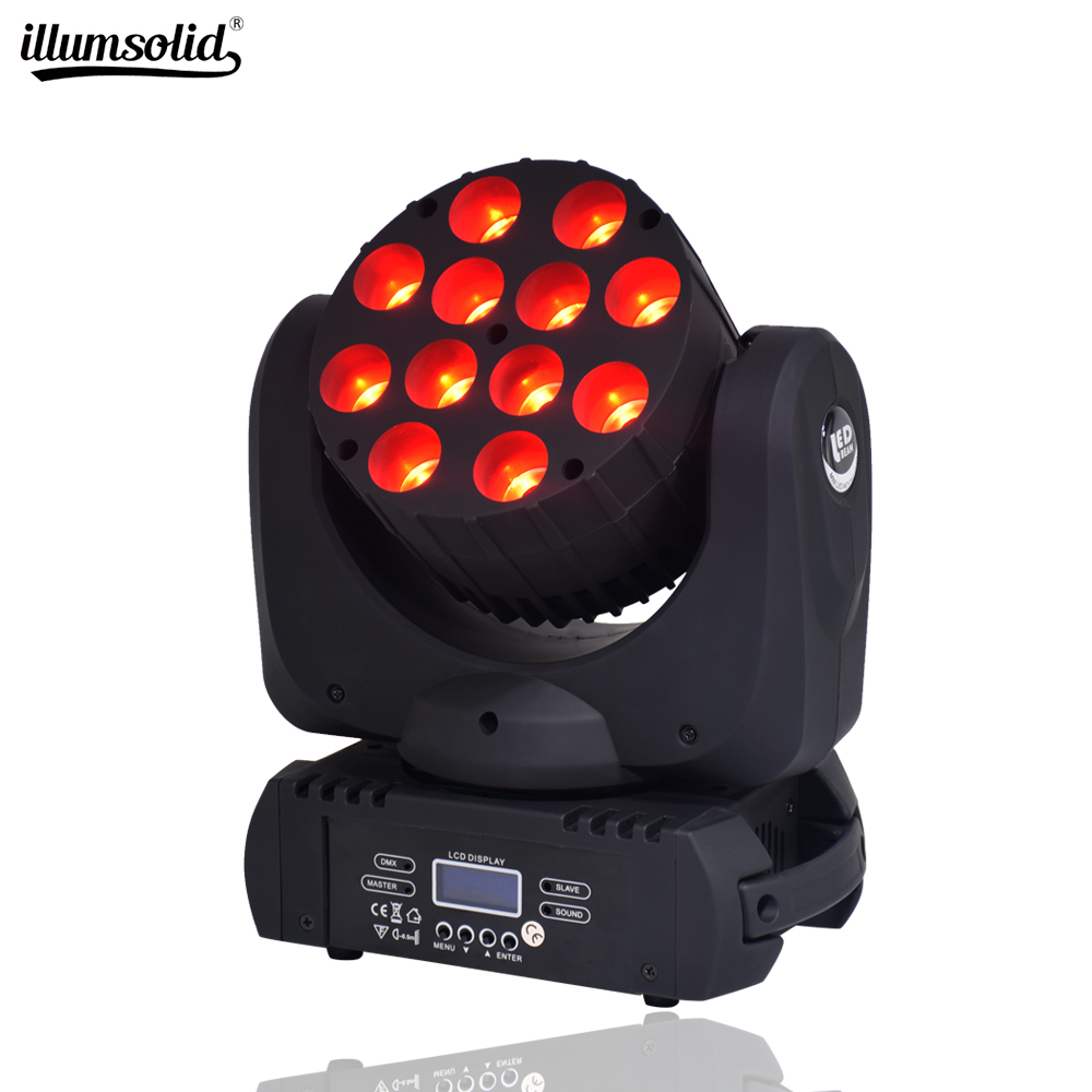 Lyre Led Wash DMX Stage Light Moving Head LED Beam 12X12W Professional Stage DJ
